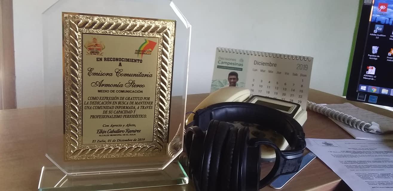 Emisora  Comunitaria Armonía  Stereo  recibió reconocimiento.