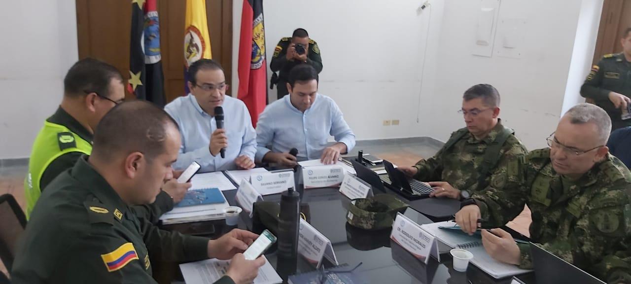 Gobernador articula respuesta para garantizar seguridad en el Catatumbo