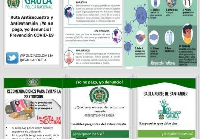 Gaula Norte de  Santander adelanta  campaña «Yo no pago, yo denuncio»