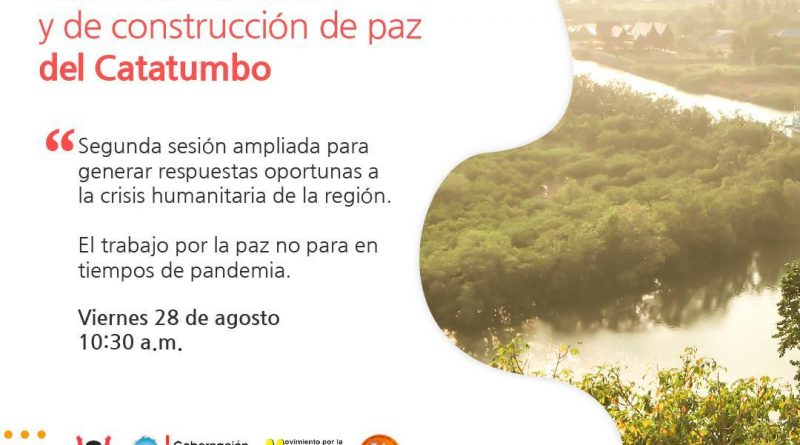 Mesa Humanitaria del Catatumbo realizará segunda reunión